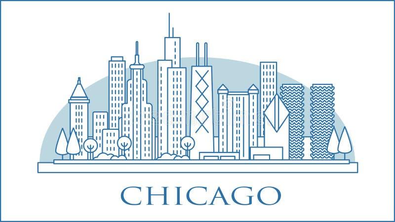 Skyline urbano de Chicago Illinois EUA fotos de stock