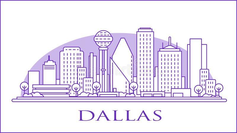 Skyline urbano de Dallas Texas EUA imagens de stock