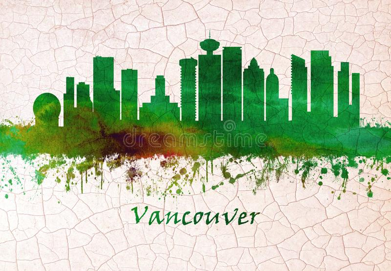 Vancouver Canada skyline vector illustration