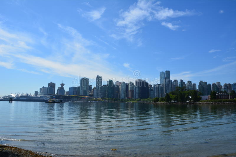 Skyline Vancouver. Photo taken from Stanley park royalty free stock photos