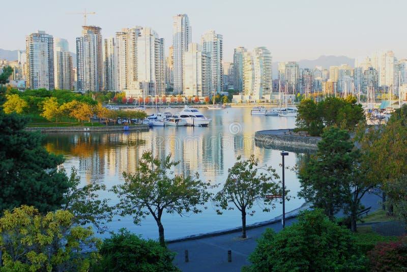 Skyline of Vancouver royalty free stock photo
