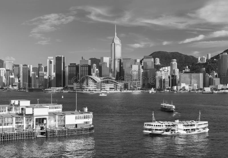 Victoria Harbor of Hong Kong city royalty free stock photo