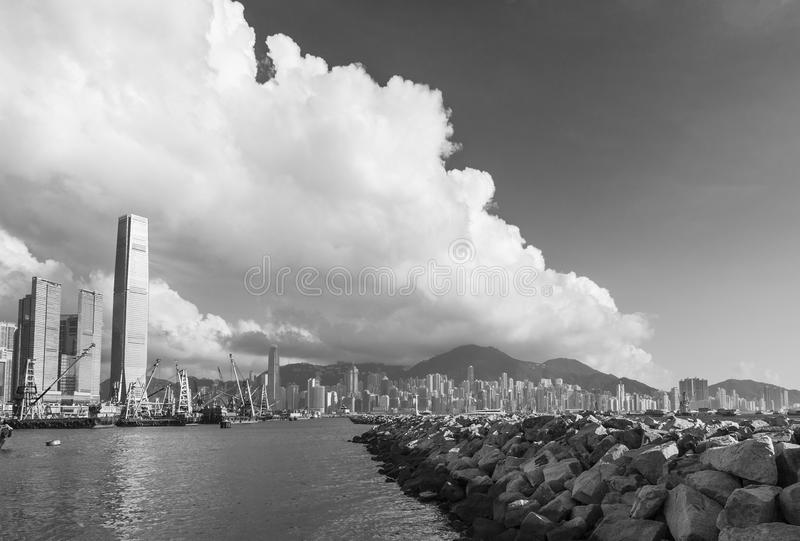 Victoria Harbor of Hong Kong city stock photos