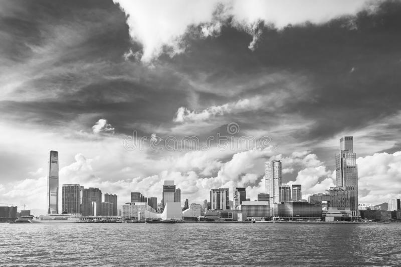 Skyline of of Hong Kong city stock photo