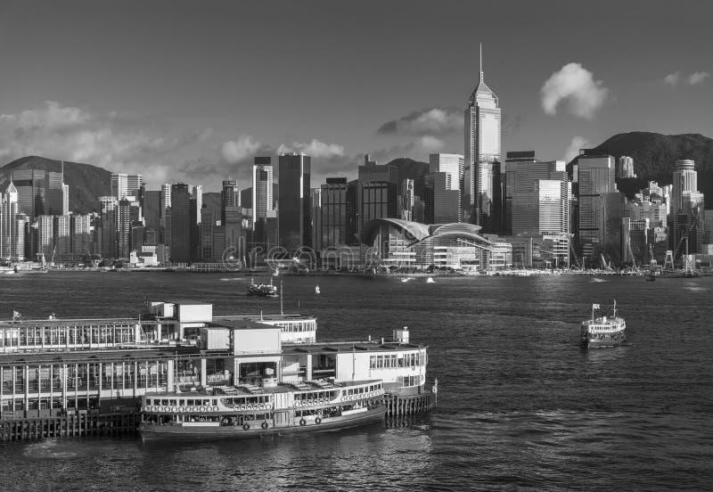 Victoria Harbor of Hong Kong city royalty free stock photos