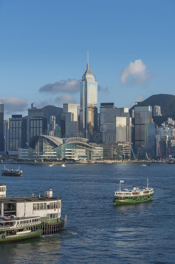 Victoria Harbor of Hong Kong city stock image
