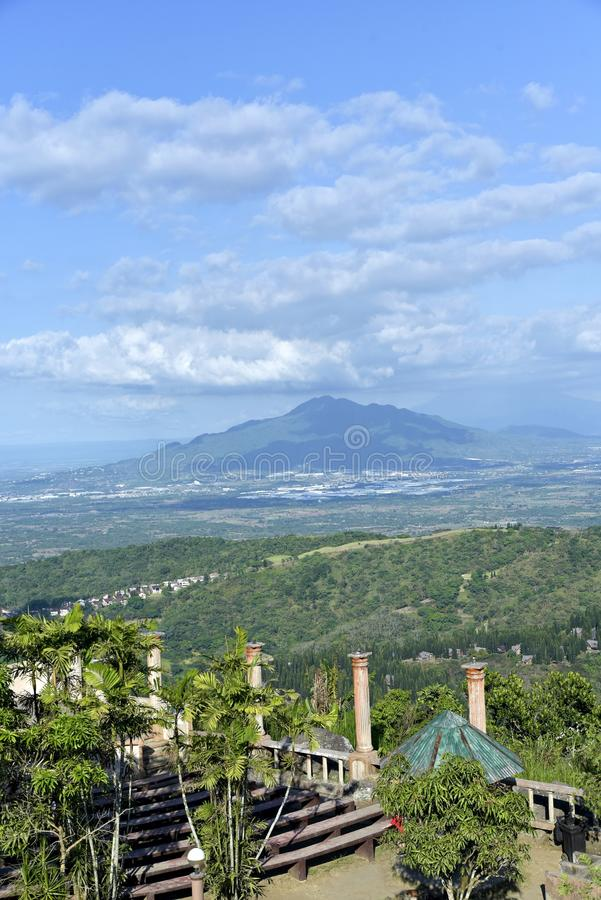 Skyline view around Tagaytay city Hightland at the day, Philippines.  stock photos