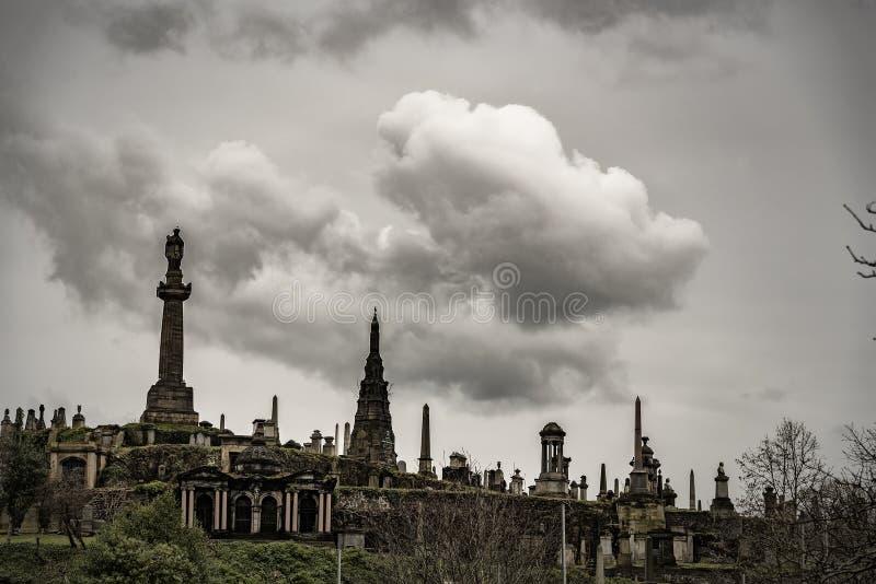 Glasgow Necropolis Graveyard royalty free stock photography