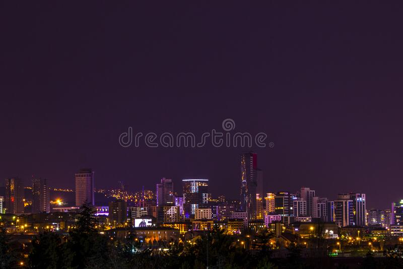 Skyline View During Night Time Free Public Domain Cc0 Image