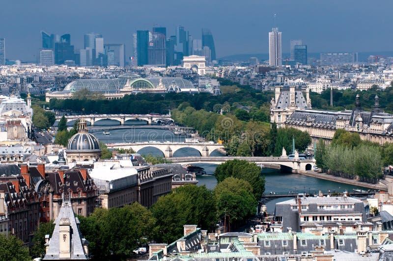 Skyline view of Paris stock image