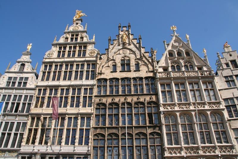 Skyline von Antwerpen stockfotos