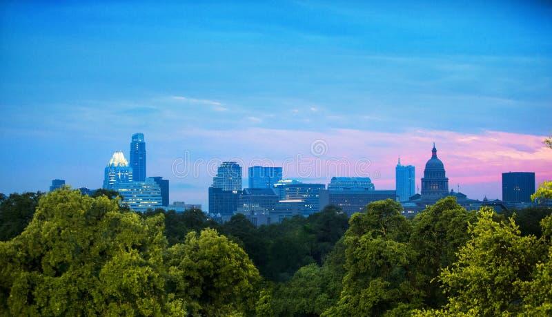 Skyline von Austin, Texas lizenzfreie stockbilder