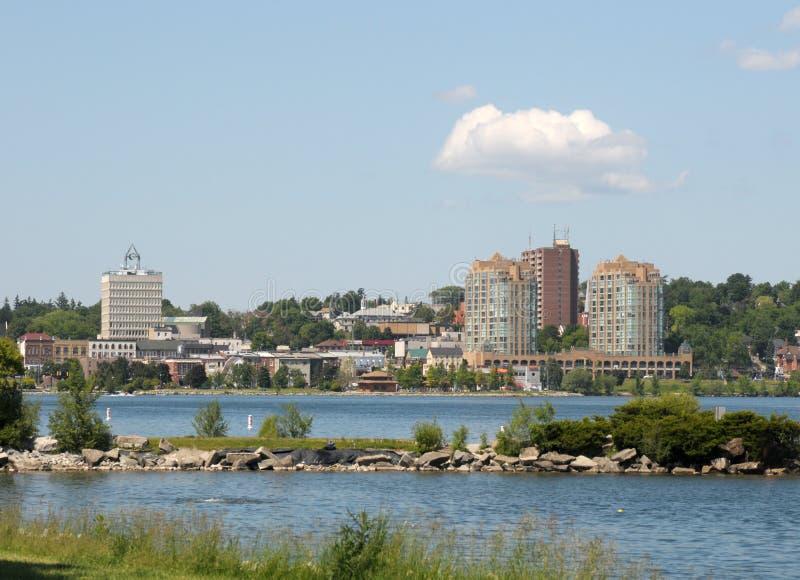 Skyline von Barrie, Ontario stockbilder