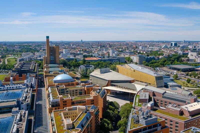 Skyline von Berlin, Deutschland - Stadtzentrum lizenzfreies stockfoto