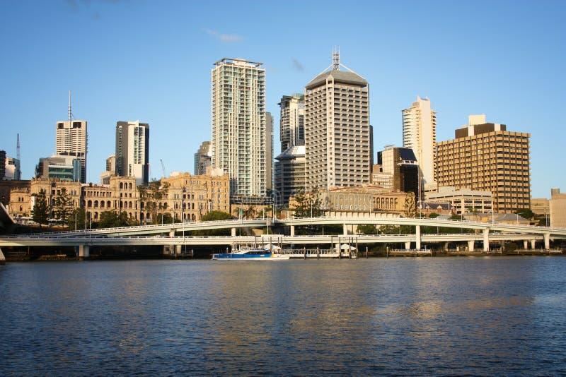 Skyline von Brisbane-Stadt stockbild