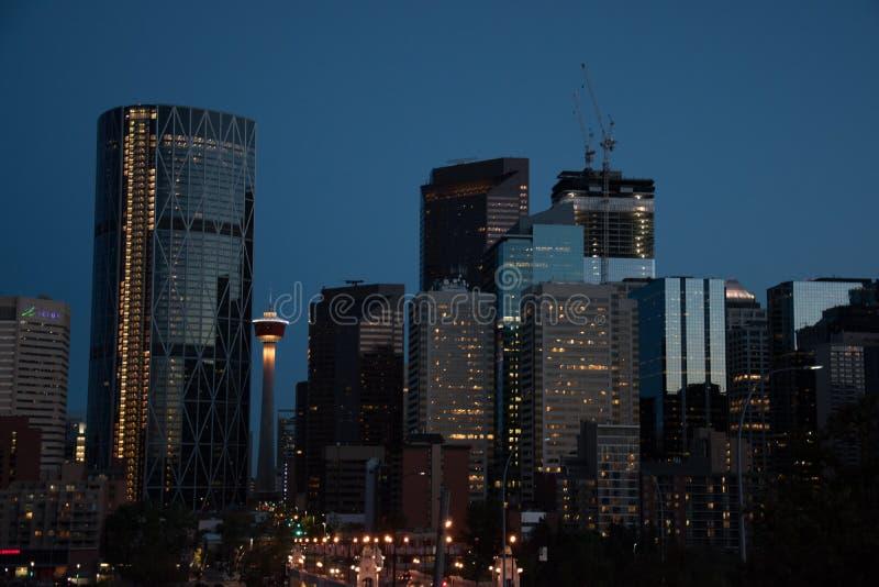 Skyline von Calgary stockfoto