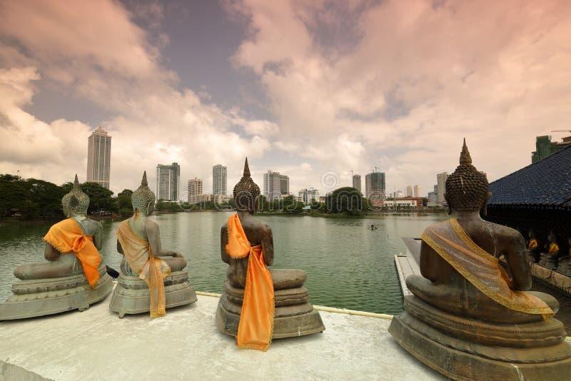 Skyline von Colombo in Sri Lanka stockbilder