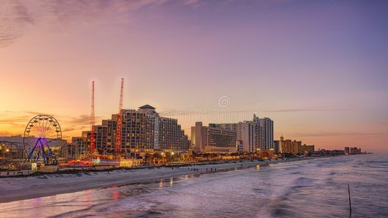 Skyline von Daytona Beach, Florida lizenzfreies stockfoto