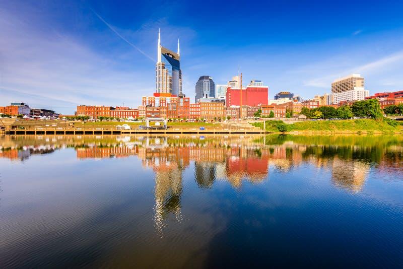 Skyline von im Stadtzentrum gelegenem Nashville lizenzfreie stockfotos