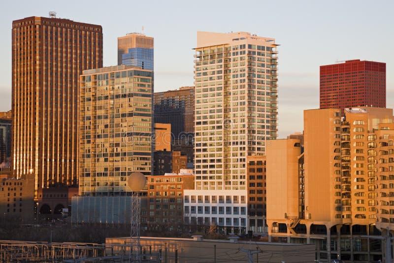 Skyline von Indianapolis lizenzfreie stockfotografie