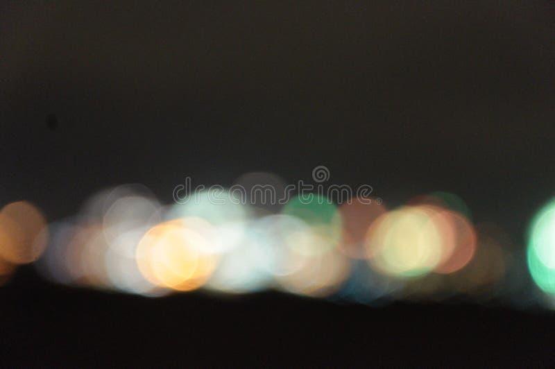 Skyline von Kiel bei Silvester lizenzfreie stockfotografie