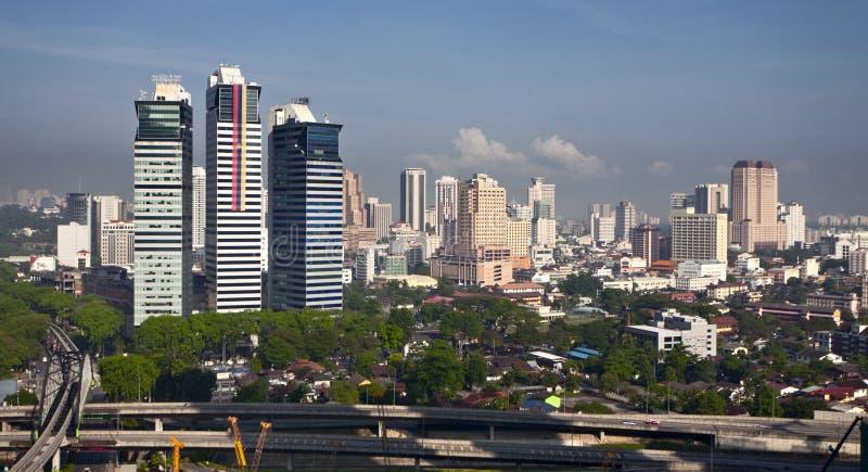 Skyline von Kuala Lumpur lizenzfreie stockbilder