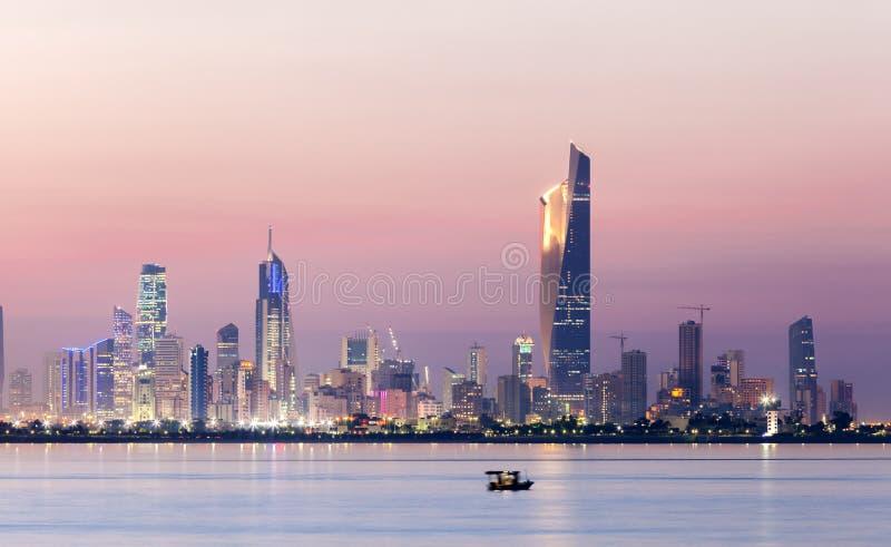 Skyline von Kuwait stockbild