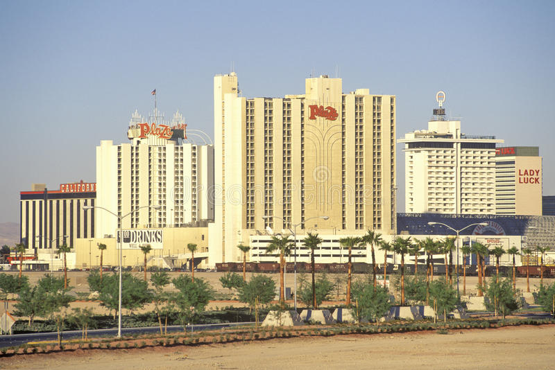 Skyline von Las Vegas, Nanovolt lizenzfreie stockfotos