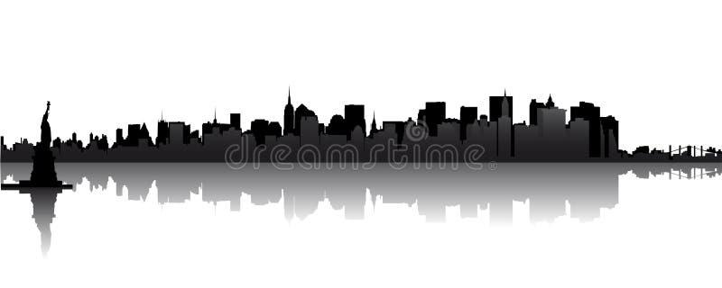 Skyline von Manhattan stock abbildung