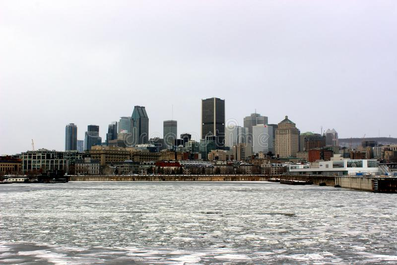 Skyline von Montreal, Quebec, Kanada stockfotos
