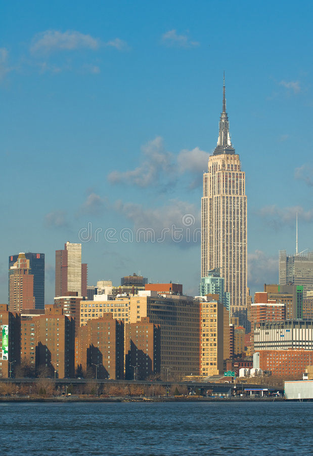 Skyline von New York lizenzfreie stockbilder
