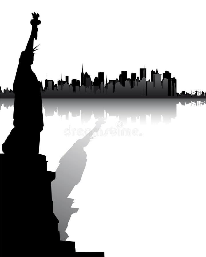 Skyline von New York stock abbildung