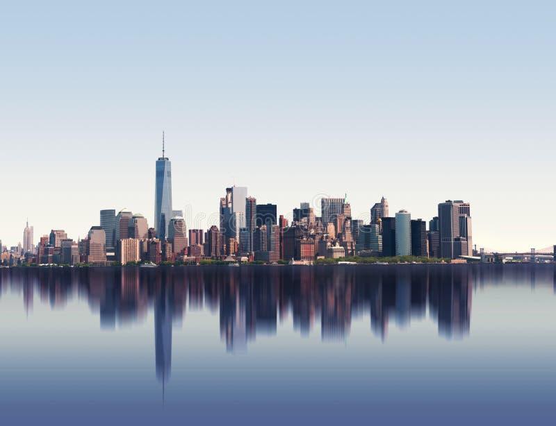 Skyline von New York City, USA lizenzfreies stockfoto