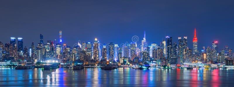 Skyline von New York City, Wolkenkratzer, im Stadtzentrum gelegen, USA stockbilder