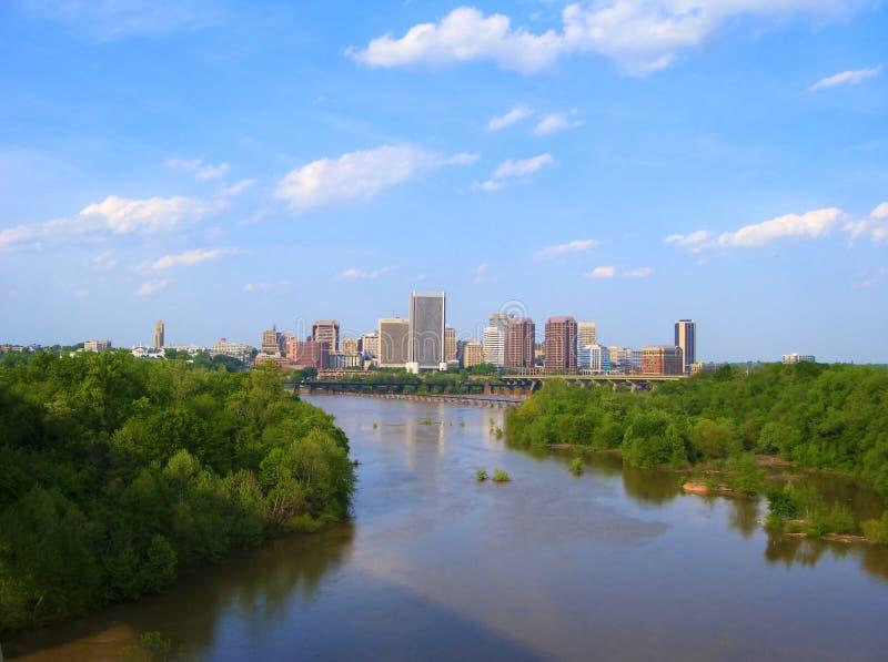 Skyline von Richmond, VA lizenzfreie stockfotos