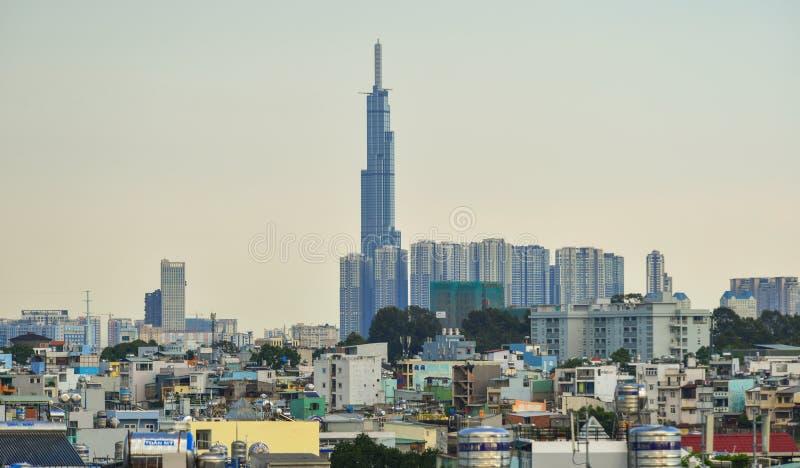Skyline von Saigon Ho Chi Minh City lizenzfreie stockbilder