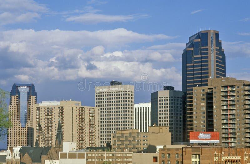 Skyline von St Paul, Mangan-Landeshauptstadt stockbild