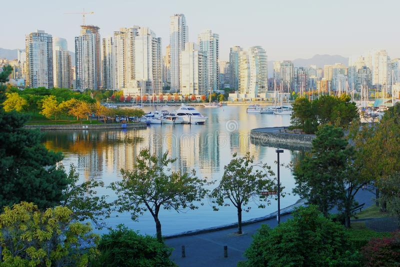 Skyline von Vancouver lizenzfreies stockfoto