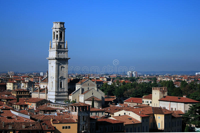 Skyline von Verona, Italien stockfotos