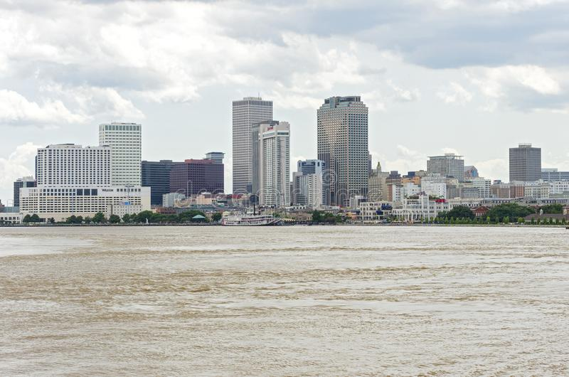 Skyline and Waterfront of New Orleans royalty free stock image