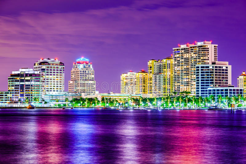 Skyline West Palm Beach Florida lizenzfreies stockbild