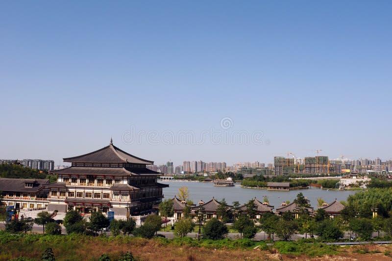 Skyline of Xian, China stock photo