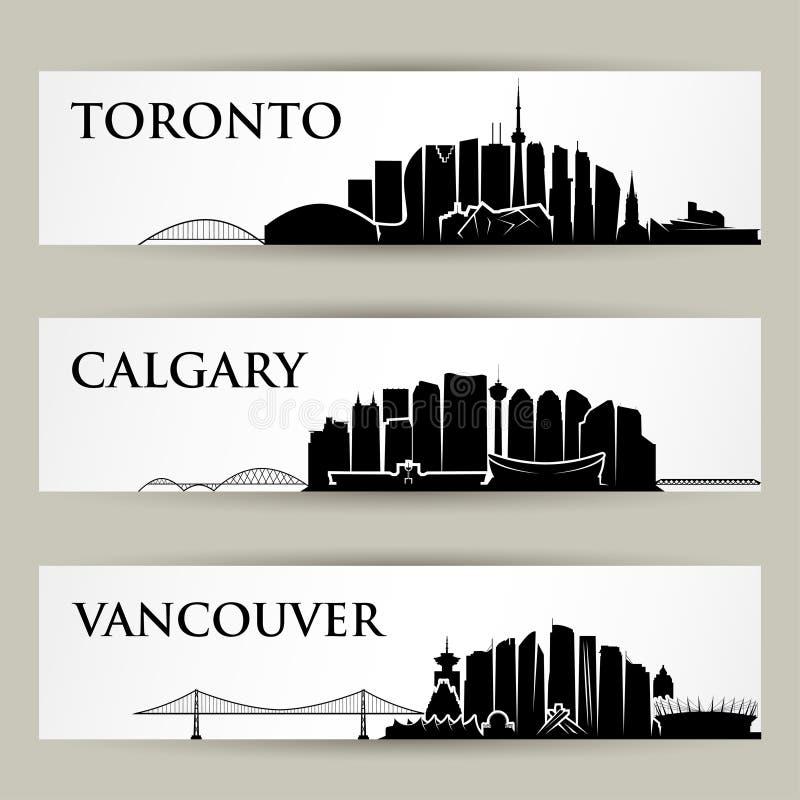Skylines das cidades de Canadá - ilustração do vetor ilustração do vetor