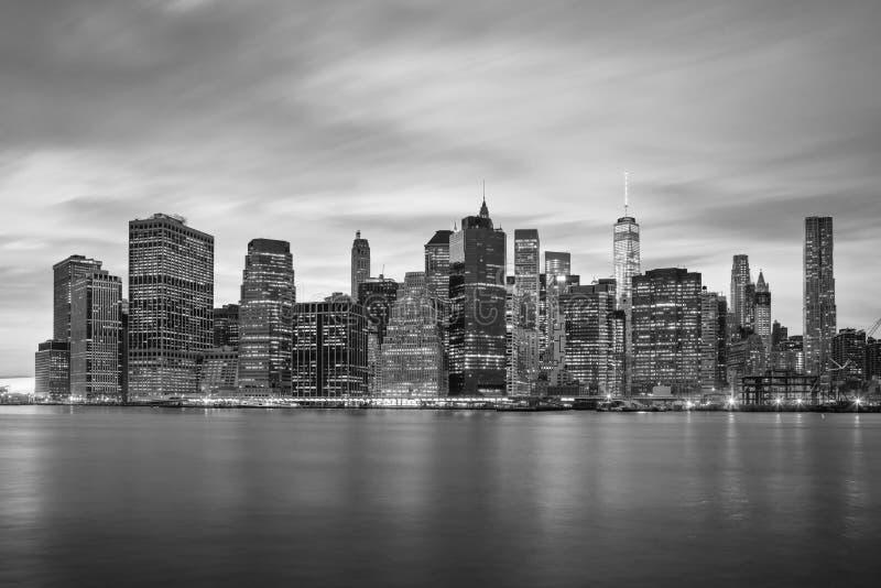 Skylines de New York City - de Manhattan, NYC, EUA foto de stock