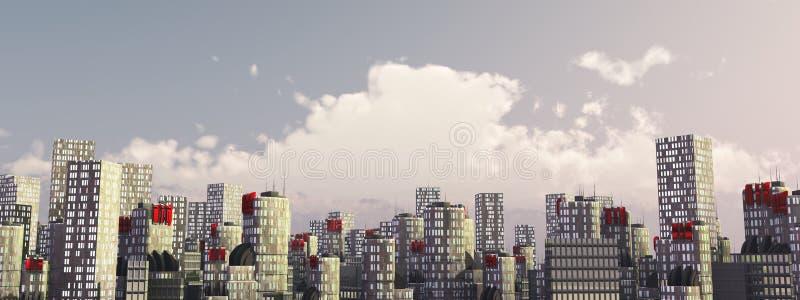 Skylinestadt im Tageslicht lizenzfreies stockbild
