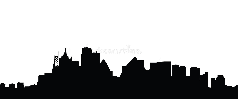 Skylinesydney-Stadtvektor lizenzfreie abbildung