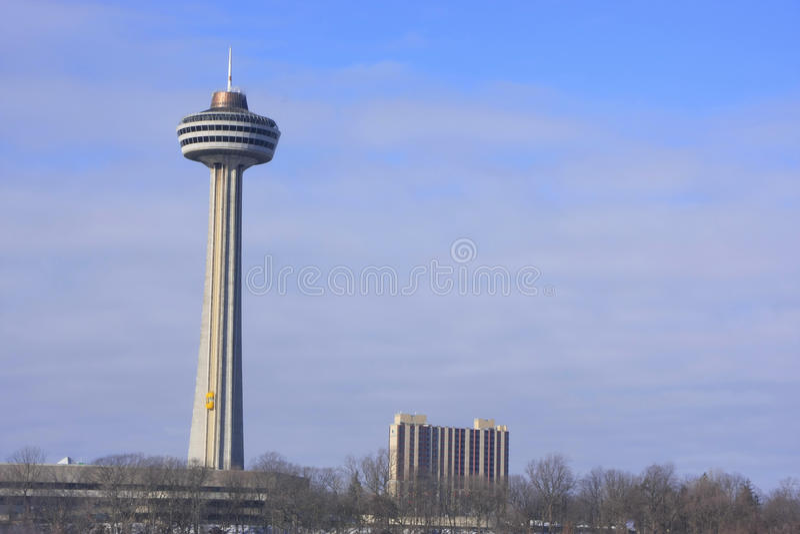 Skylon塔,尼亚加拉大瀑布,安大略,加拿大 免版税库存图片