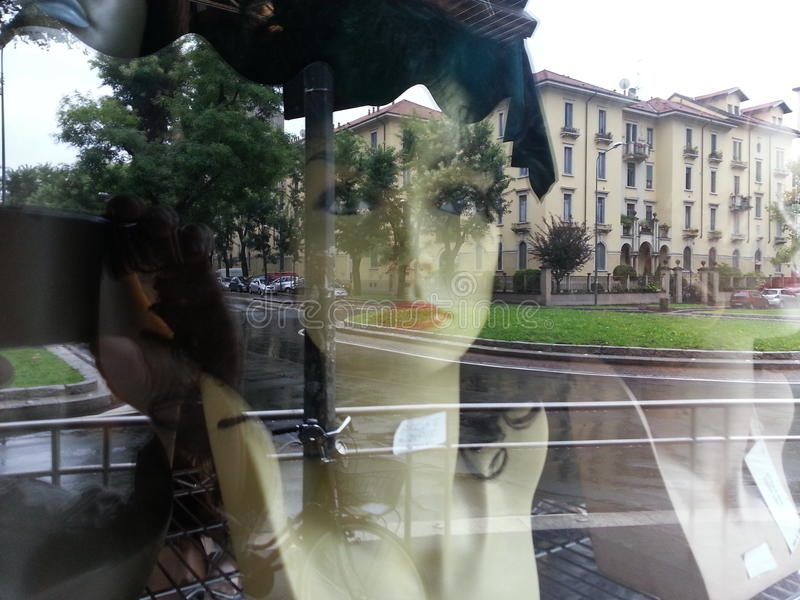 Skyltdocka i Milano royaltyfri foto