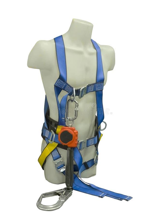 Skyltdocka i utrustning för säkerhetssele fotografering för bildbyråer