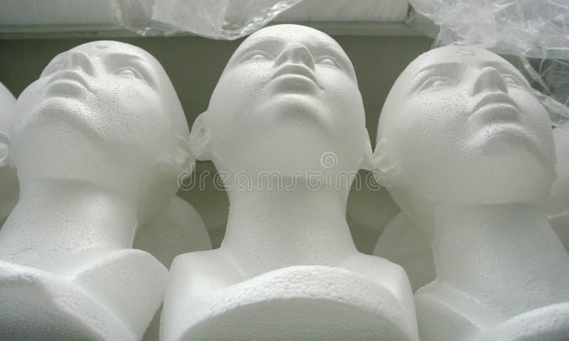 Skyltdockahuvud royaltyfria foton
